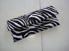 Black and White Zebra Print Clutch by AnnabelleMB on Etsy, $18.00