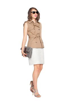 Outfit Idea: City Chic    Add a mini trench and killer shoes. Damn, Kristina!