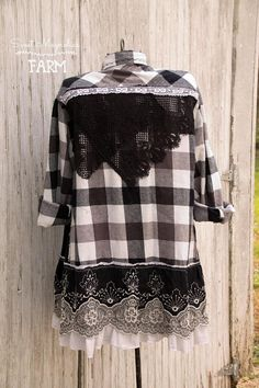 Farm Girl Fancies by: Sweet Magnolias Farm (To Read entire description please click on the +MORE in the bottom left of description) This Beautiful flannel shirt was designed here at the farmhouse In A- Line Style for all of us curvy gals that like a loose but flowing fit ...