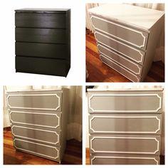 diy furniture makeover ikea malm dresser paint. Black Bedroom Furniture Sets. Home Design Ideas