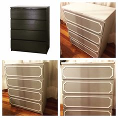 Ikea malm painted inspiraci n muebles pinterest malm for Chalk paint muebles ikea
