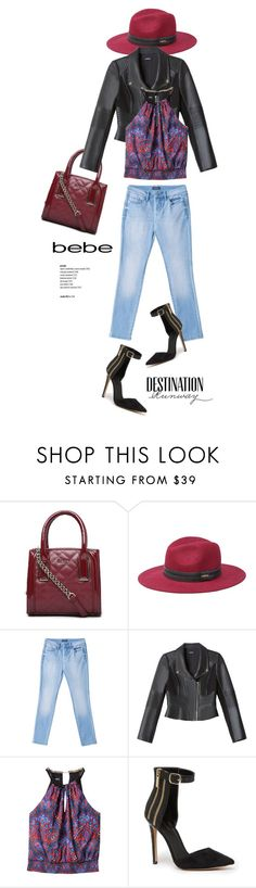 """""""Bebe Chic"""" by lilieshomeandgarden ❤ liked on Polyvore featuring Bebe, bebe and Belconic"""