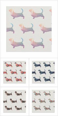 Basset Hound Fabrics