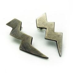 Asymmetrical Bolt Earrings / designed by Shanna Nash