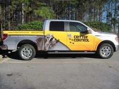That's one professional looking partial truck wrap!  Great advertising.