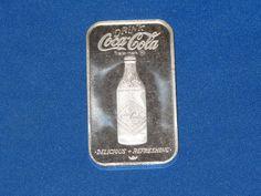 1976 Coca Cola Norfolk Bottling Works Virginia Silver Art Bar B6123 Silver Investing, Norfolk, Coca Cola, Virginia, It Works, Bar, Coke, Nailed It, Cola