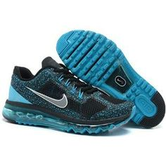 http://www.anike4u.com/ Nike Air Max 2013 Dots Mens Shoes in Black and Blue