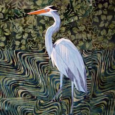 silver linings quilting pattern blue heron