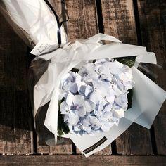. 다 똑같은 그런 꽃다발말고 특별한 졸업식 꽃다발로 최고!  깔끔 청순한 하늘색 수국 꽃다발  . . . . #꽃 #꽃집 #꽃스타그램…