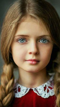 LOVELY BLUE-EYED GIRL.