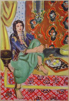 Henri Matisse Art Gallery | Odaliske by Henri Matisse – collectible collotype fine art print