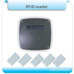 70-120mm Middle Reading Distance Range Wiegand 26 bit 125KHz EM ID RFID Reader/access control long range reader <font><b>tarjeta</b></font> antenna
