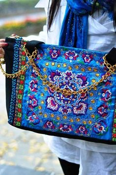 Ethnic embroidered fabric bag canvas item no32 | submiteasy2010 - Bags & Purses on ArtFire
