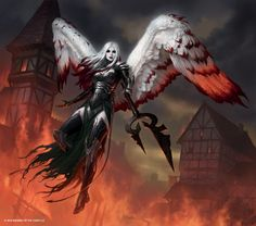 Avacyn, the Purifier | Art by James Ryman http://magic.wizards.com/en/articles/archive/feature/shadows-over-innistrad-art—week-1-2016-03-18