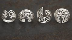 Intricate, lattice rings inspired by our industrial past.