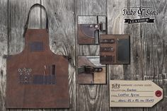 Barber Apron, (leather, handmade) di DukeAndSonsLeather su Etsy https://www.etsy.com/it/listing/210645308/barber-apron-leather-handmade