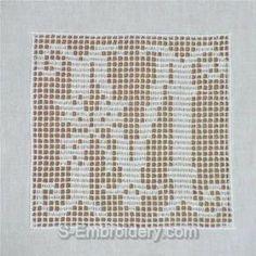 Filet Crochet Alphabet Patterns – Crochet and Knitting Patterns Crochet Patterns Filet, Crochet Diagram, Doily Patterns, Crochet Squares, Embroidery Patterns, Free Crochet, Embroidery Alphabet, Crochet Granny, Crochet Ideas