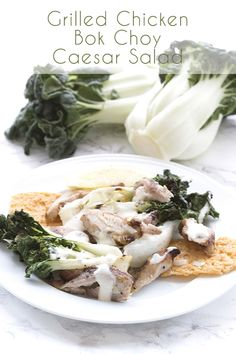 Why not shake up your Caesar salad routine by using baby bok choy? And grilling it too! A delicious low carb summer salad recipe. Portland seems to be a little confused about the seasons at the mom…