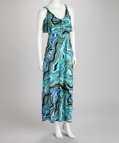 Take a look at this Blue Swirl Maxi Dress by Just Love on #zulily today! $14.99, regular 48.00