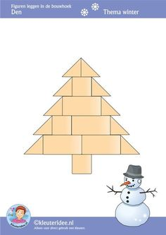 Preschool patterns for block area. Christmas Math, Preschool Christmas, Winter Christmas, Christmas Themes, Christmas Crafts, Advent Activities, Christmas Activities For Kids, Preschool Block Area, Winter Thema