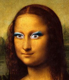 Mona with make-up...