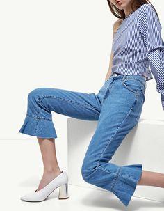 Jeans skinny volante - Ropa | Stradivarius España