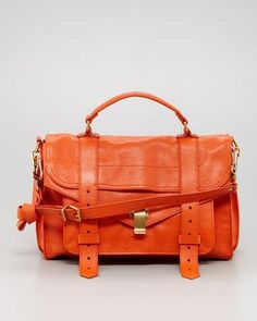 Proenza Schouler PS1 Medium Satchel Bag, Orange