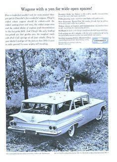 Vintage 1960 Chevy Car Print Advertisement  Chevrolet Ad