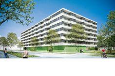 Bauträgerwettbewerb zur erlangung von 100 Wohnungen und 100 Heimzimmern gemeinsam mit dem Bauträger Familienhilfe und der Strabag
