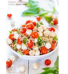 Tomates, mozza, basilic, quinoa | summer salad