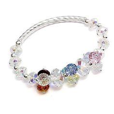 Eclipse Cluster Crystal Bracelet in Multi-Coloured