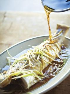 Steamed Whole Fish with Ginger, Scallions, and Soy from Vietnamese Home Cooking by Charles Phan