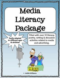- full of fun and engaging literacy activities to teach your students how to deal with today's advertising, social media and more! Media Literacy, Literacy Activities, Persuasive Text, Social Media Packages, Middle School Libraries, Digital Literacy, Teaching Reading, Teaching Ideas, Always Learning