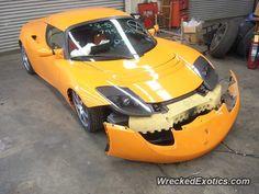 Tesla Roadster crashed