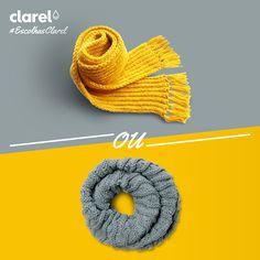 #EscolhasClarel  Qual o seu acessório de inverno preferido: uma gola ou um cachecol?