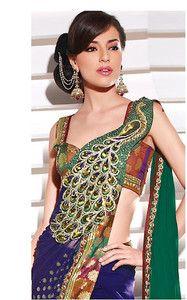 Peacock Sari Sarees Saree Saris