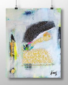 ABSTRACT Art Collage Original Artwork Abstract art by ArtbyHeroux