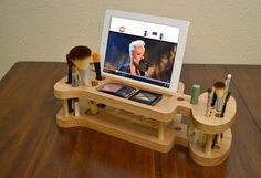 Beauty Station: Makeup Organizer, iMakeUp Station , Make up Storage and Display Station for iPad, iPhone and any Tablet and any Smart phone on Etsy, £38.47