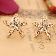 Cute Sweet Starfish Earrings for only $9.90 ,cheap Earrings Studs - Jewelry&Accessories online shopping,That is a fashion Cute Sweet Starfish Earrings which is the best gift for her!