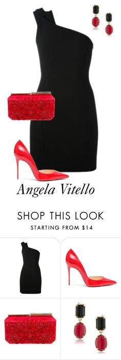 """""""Untitled #837"""" by angela-vitello on Polyvore featuring Yves Saint Laurent, Christian Louboutin, Oscar de la Renta and 1st & Gorgeous by Carolee"""