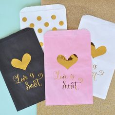 New #item on #etsy #treatbags #favorbag #gold #monogram perfect for dessert tables or birthdays