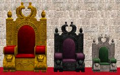 Day 4: Child And Toddler Thrones Tiny thrones for your children and toddlers that match that of their parents. I've done four flavors. All are slaved to the adult versions of thrones. Find them in...