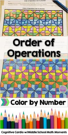 Try this self-checking color by number to help your math students practice the order of operations! #math