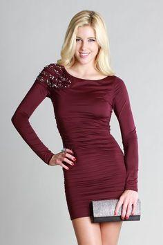 One Side Beaded Dress NIKIBIKI ★Women's Seamless wear and imported apparel wholesale