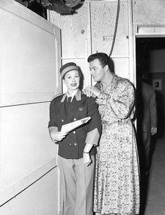Lucille Ball&Cornel Wildeon the I Love Lucy set.