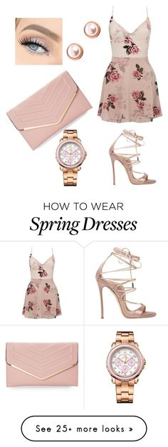 """""""Dusty Rose Spring"""" by jedim on Polyvore featuring Lipsy, Ted Baker, Juicy Couture, Sasha and Dsquared2"""