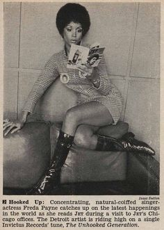 Singer Freda Payne Lounging and Reading Jet Magazine - Jet Magazine January 15, 1970