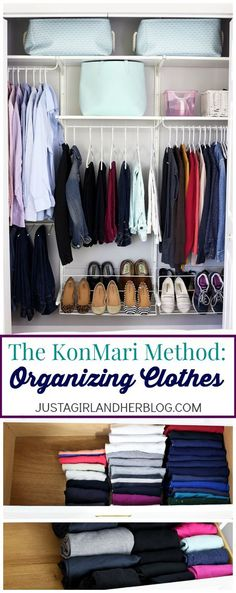 The KonMari Method- Clothes Organization. I want my clothes to be this organized! | http://JustAGirlAndHerBlog.com