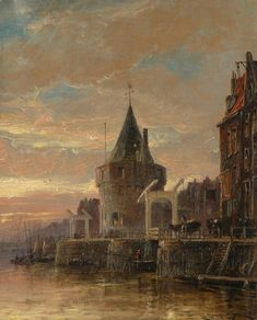 The Schreyers Tower, Amsterdam Artwork By Cornelis Christian Dommelshuizen Hand-painted And Art Prints On Canvas For Sale,you Can Custom The Size And Frame Canvas Art Prints, Painting Prints, Dutch Painters, Great Paintings, Amsterdam, Holland, 19th Century, Tower, Museum