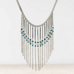 AEO BEADED CHANDELIER NECKLACE   $14.70  STYLE: 0482-3539   COLOR: 013 Make a bold statement Shop the AEO Beaded Chandelier Necklace from American Eagle Outfitters. Check out ...